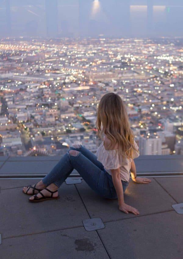 OUE Skyspace Slide View LA
