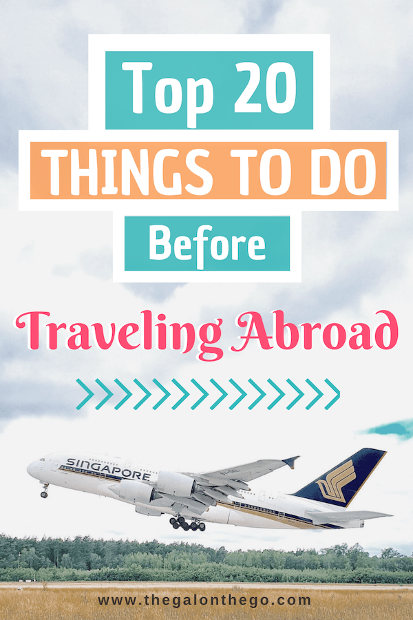 things to do before international travel