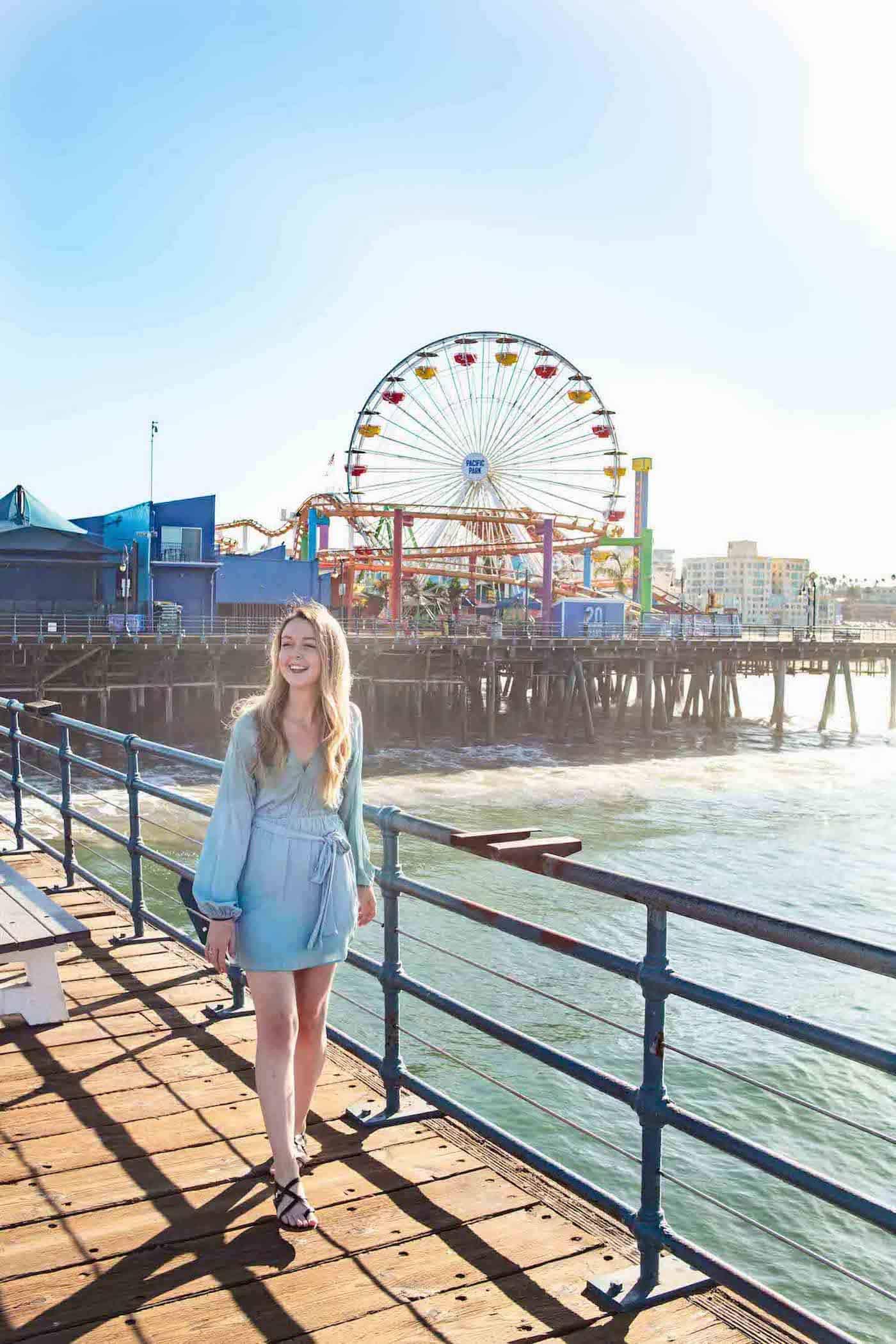 Santa Monica Pier CA Photo location